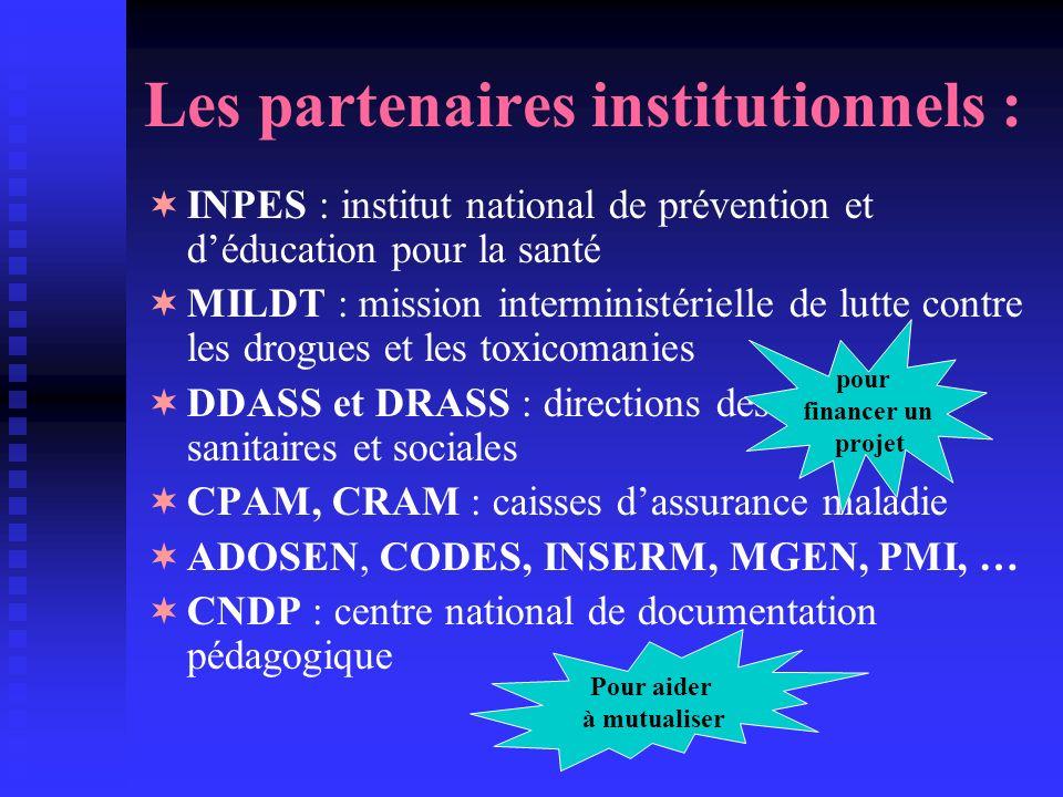 Les partenaires institutionnels :