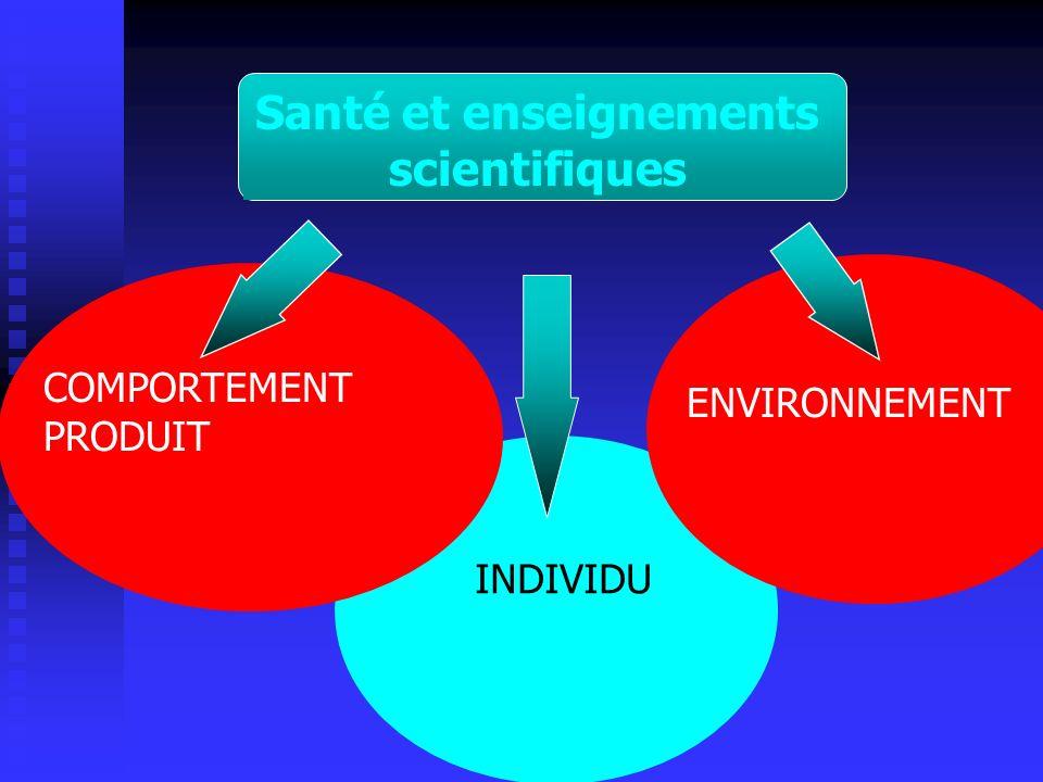 Santé et enseignements scientifiques