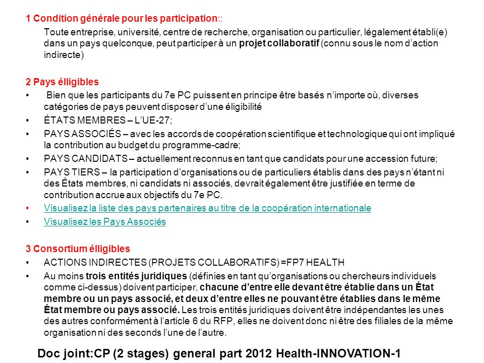 Doc joint:CP (2 stages) general part 2012 Health-INNOVATION-1
