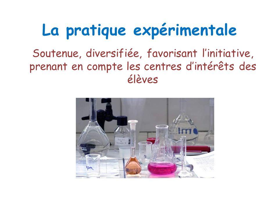 La pratique expérimentale