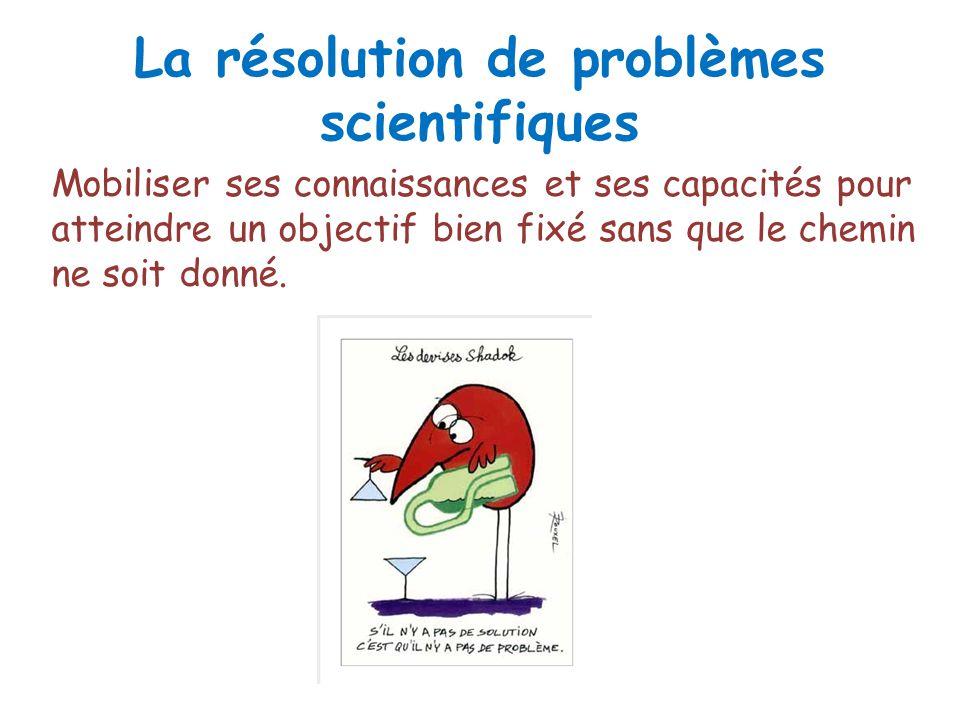 La résolution de problèmes scientifiques