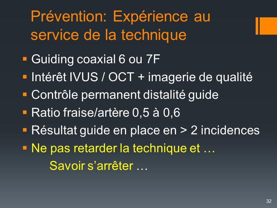 Prévention: Expérience au service de la technique