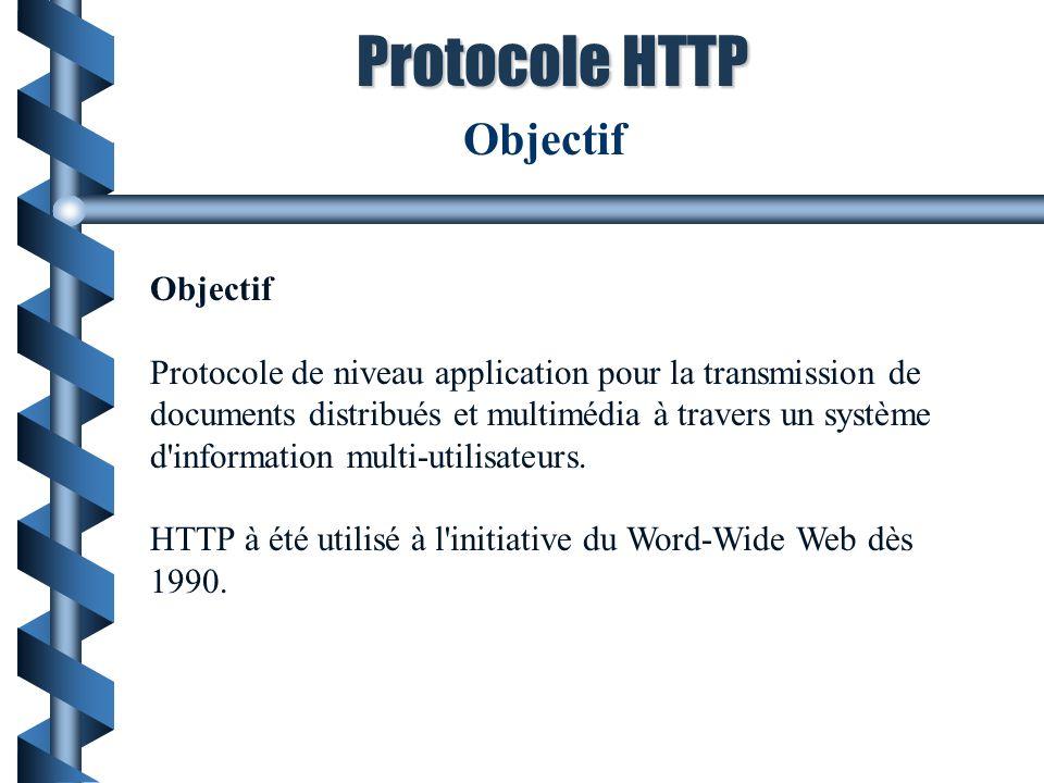 Protocole HTTP Objectif Objectif