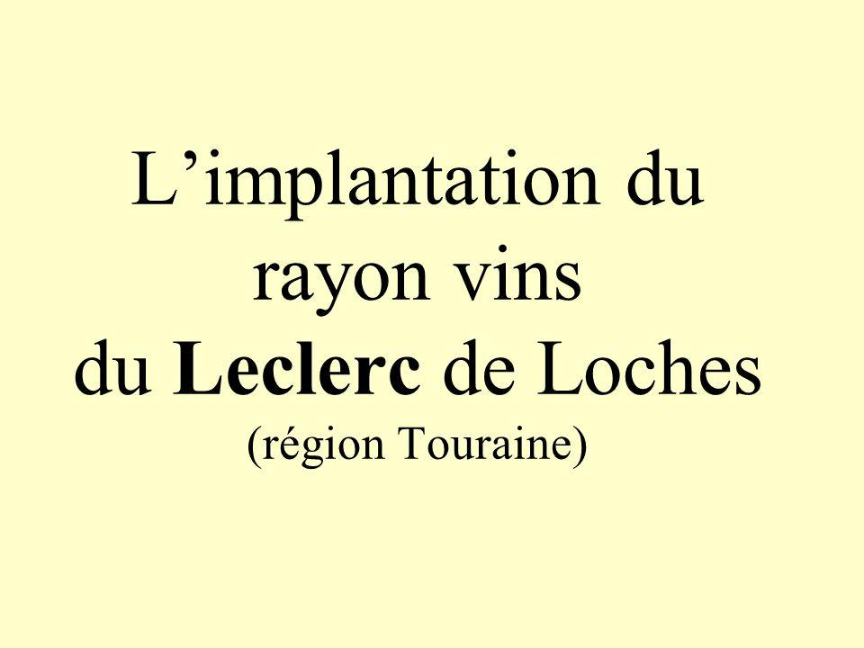 L'implantation du rayon vins du Leclerc de Loches (région Touraine)