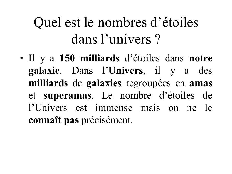 Quel est le nombres d'étoiles dans l'univers
