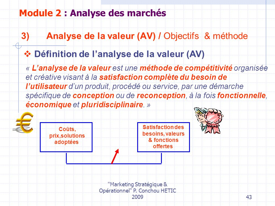 Analyse de la valeur (AV) / Objectifs & méthode