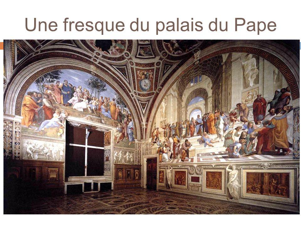 Une fresque du palais du Pape