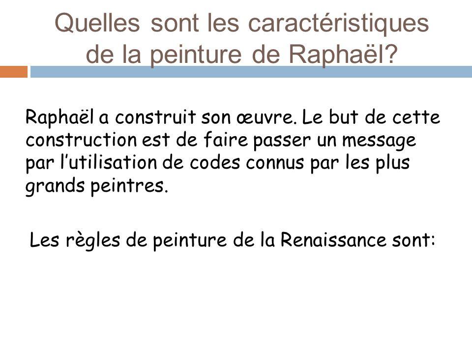 Quelles sont les caractéristiques de la peinture de Raphaël