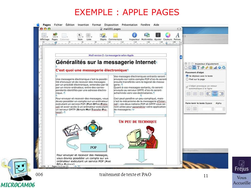 25/03/2017 EXEMPLE : APPLE PAGES Initiation au traitement de texte