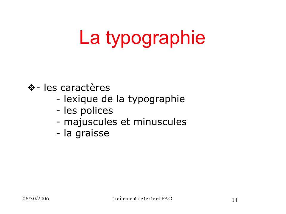 25/03/2017 La typographie. - les caractères - lexique de la typographie - les polices - majuscules et minuscules - la graisse.