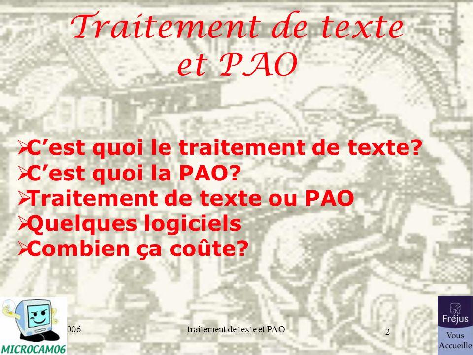 Traitement de texte et PAO