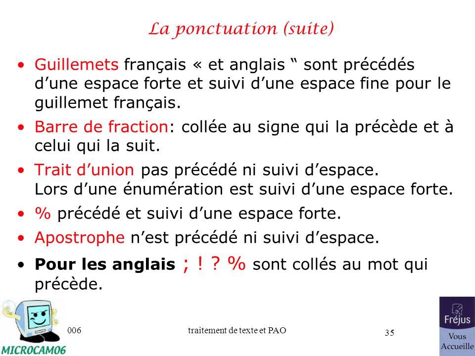 La ponctuation (suite)