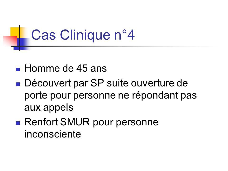 Cas Clinique n°4 Homme de 45 ans