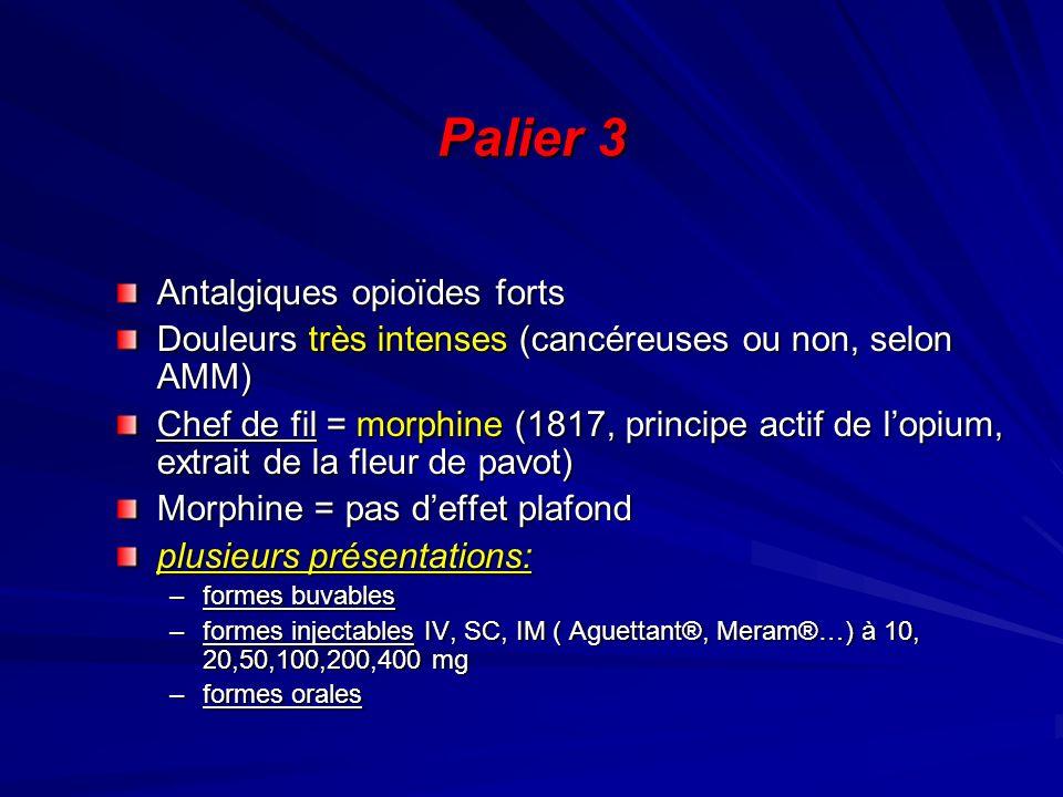 Palier 3 Antalgiques opioïdes forts