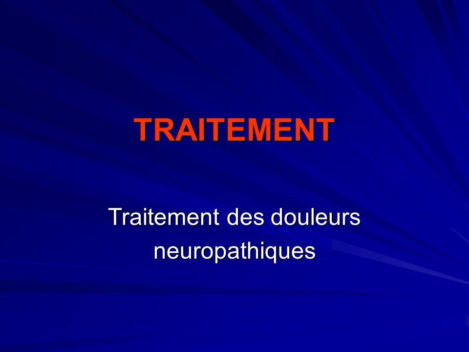 Traitement des douleurs neuropathiques
