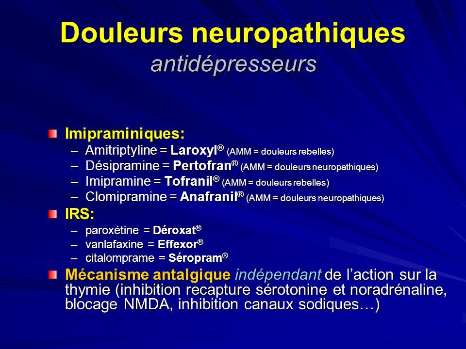 Douleurs neuropathiques antidépresseurs