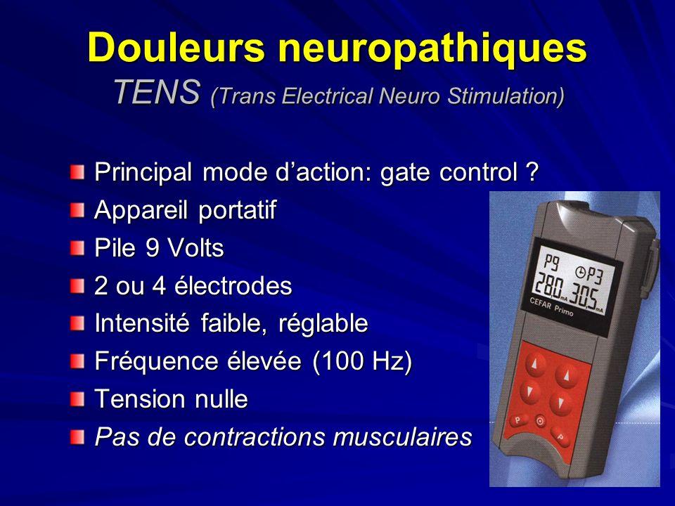 Douleurs neuropathiques TENS (Trans Electrical Neuro Stimulation)