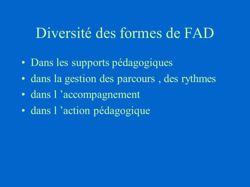 Diversité des formes de FAD
