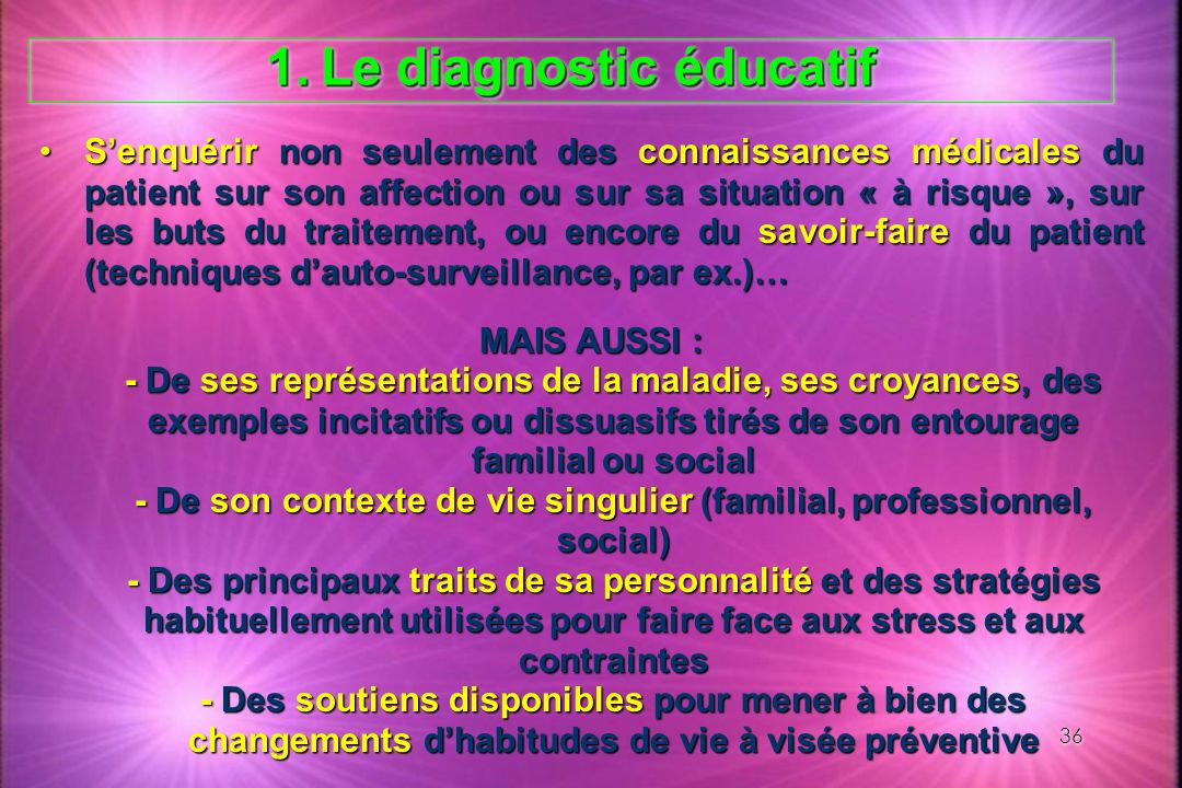 Le diagnostic éducatif