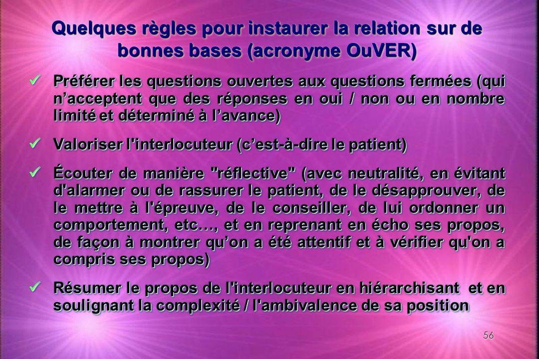 Quelques règles pour instaurer la relation sur de bonnes bases (acronyme OuVER)