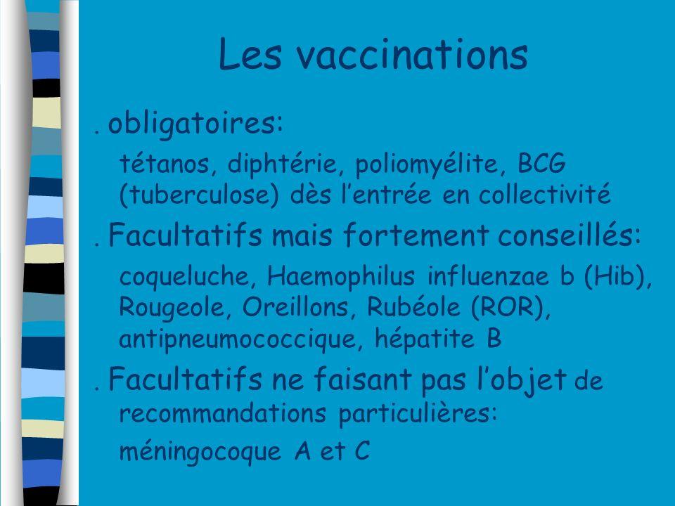 Les vaccinations . obligatoires: