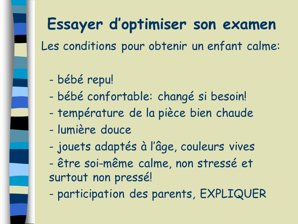 Essayer d'optimiser son examen