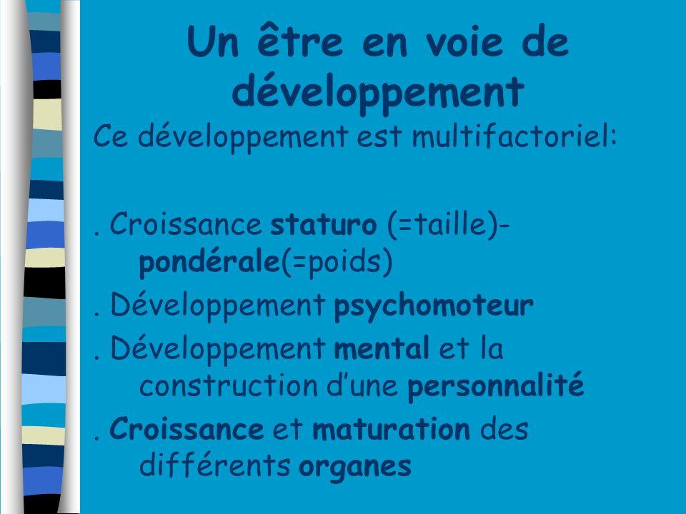 Un être en voie de développement