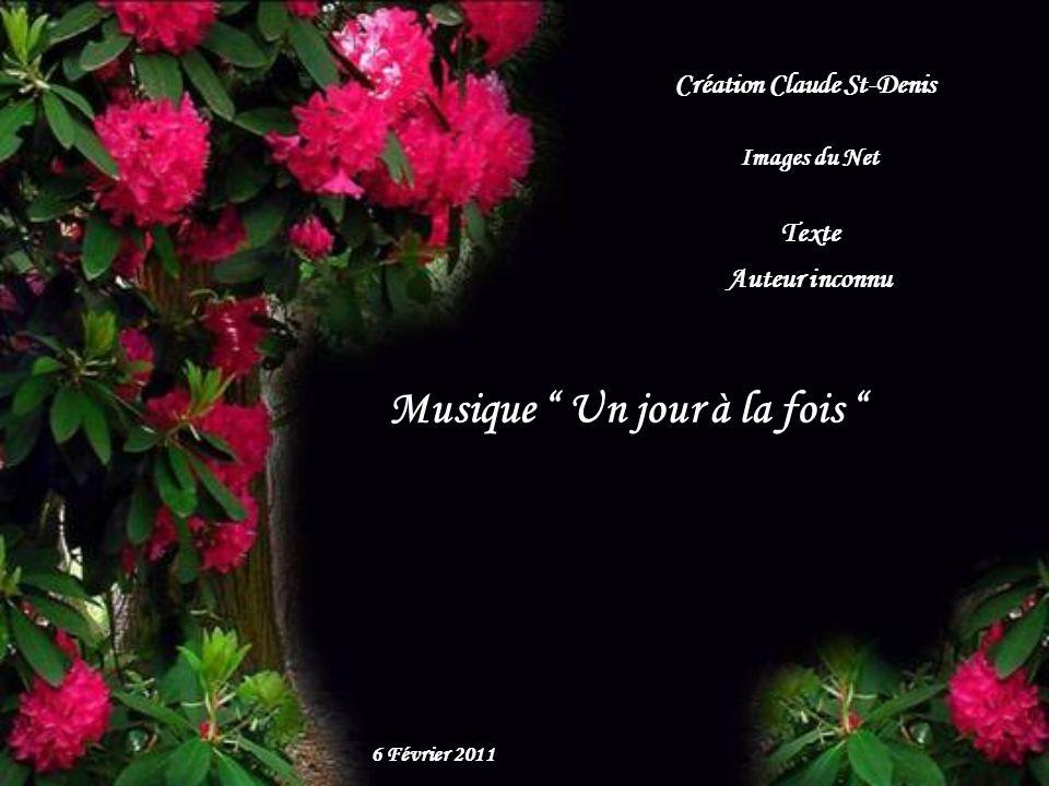 Création Claude St-Denis Musique Un jour à la fois