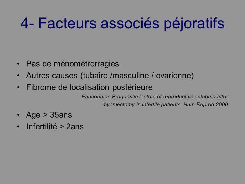 4- Facteurs associés péjoratifs