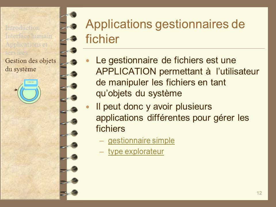 Applications gestionnaires de fichier