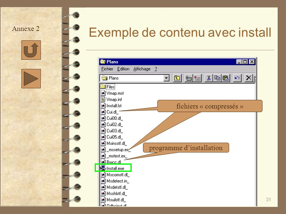 Exemple de contenu avec install