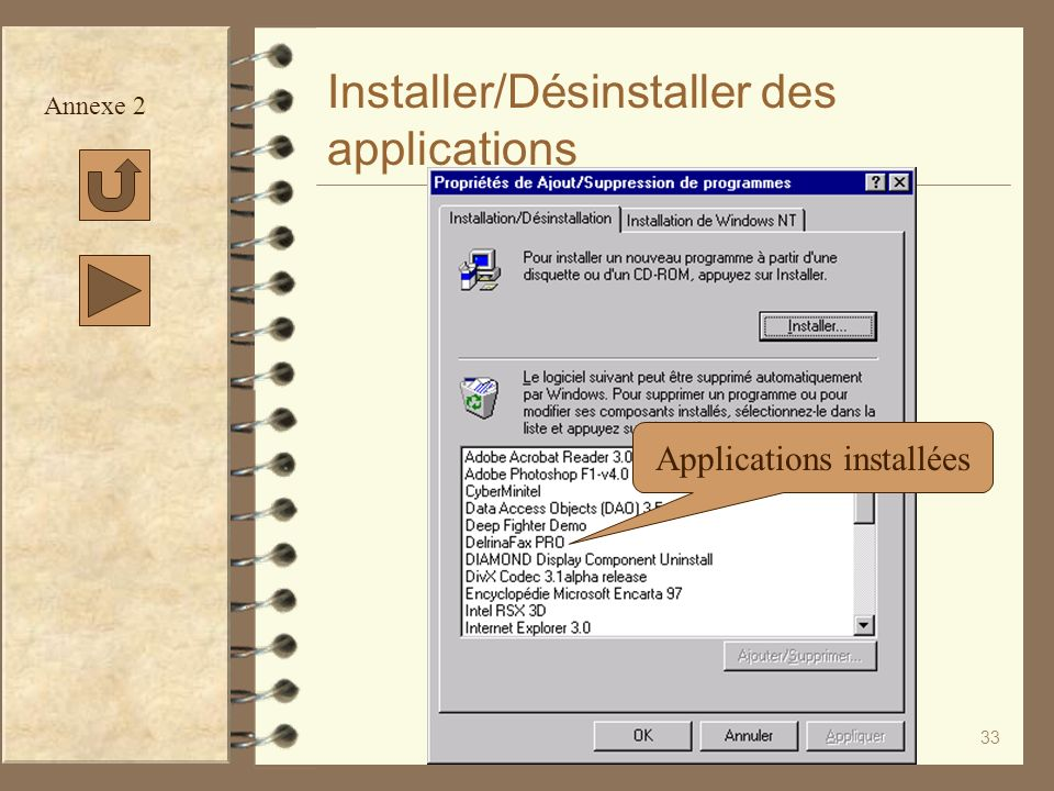 Installer/Désinstaller des applications
