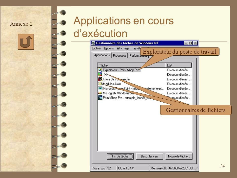 Applications en cours d'exécution