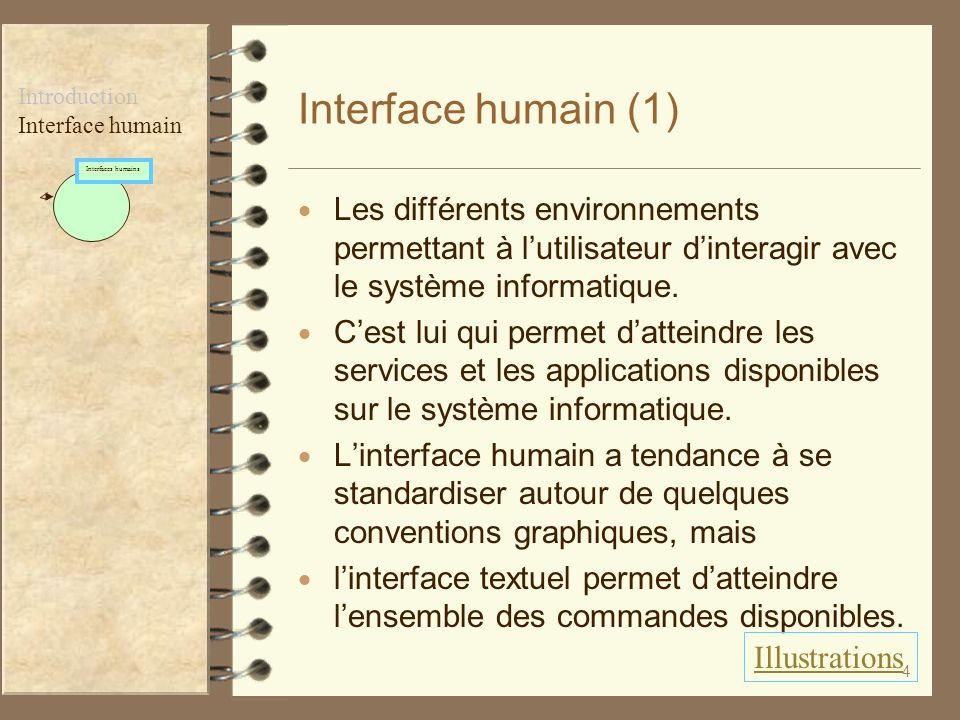 Interface humain (1) Introduction. Interface humain. Interfaces humains.