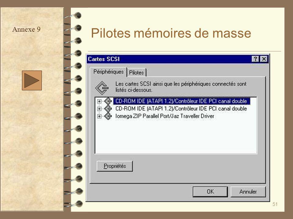Pilotes mémoires de masse