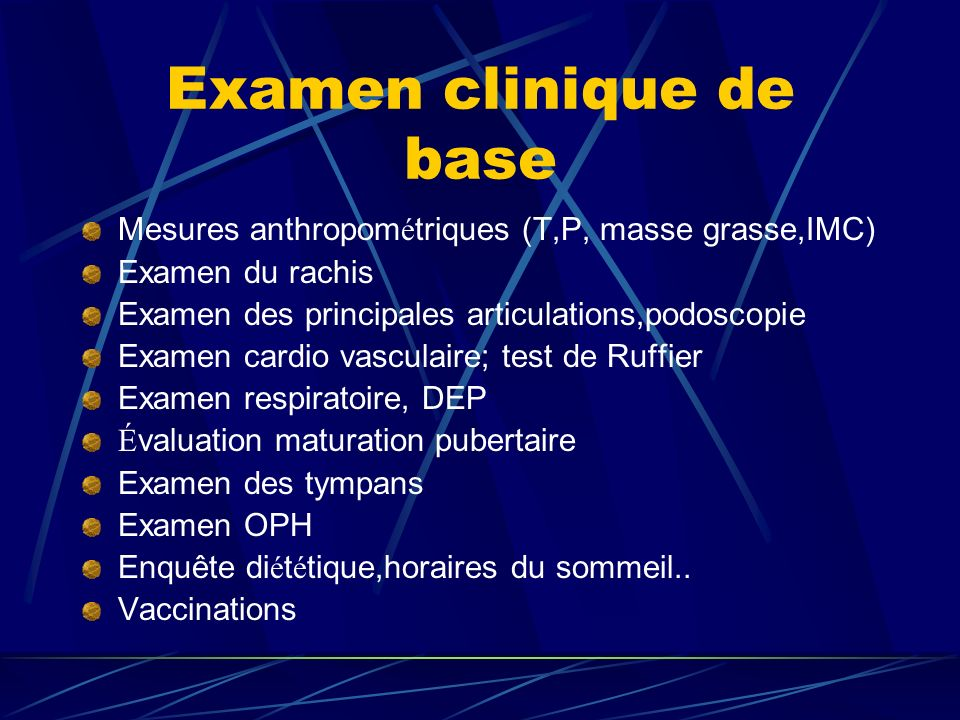 Examen clinique de base