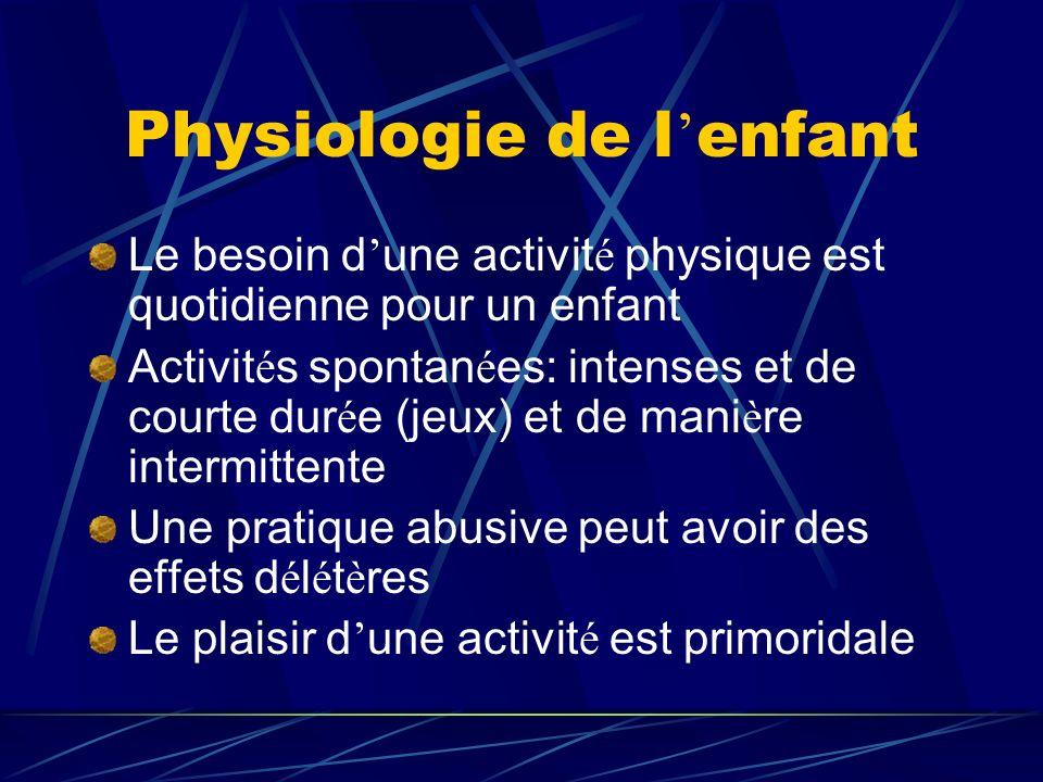 Physiologie de l'enfant