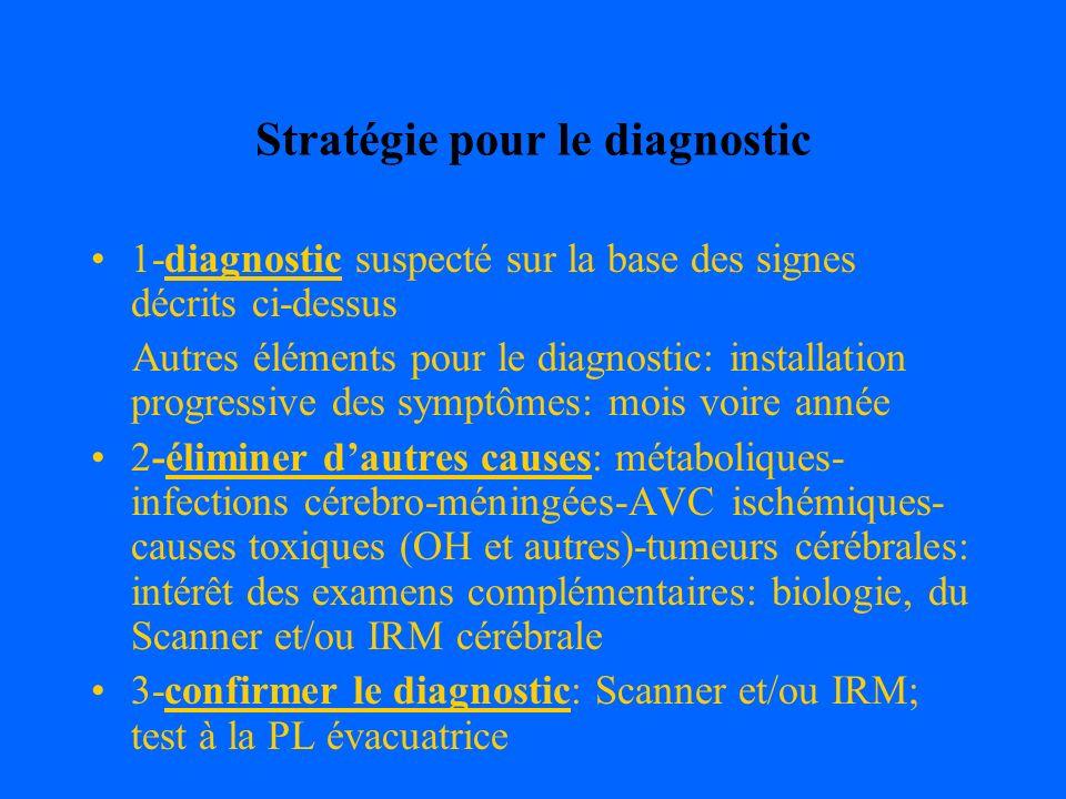 Stratégie pour le diagnostic