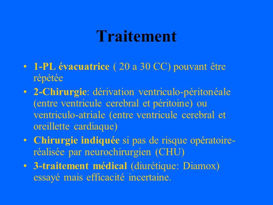 Traitement 1-PL évacuatrice ( 20 a 30 CC) pouvant être répétée