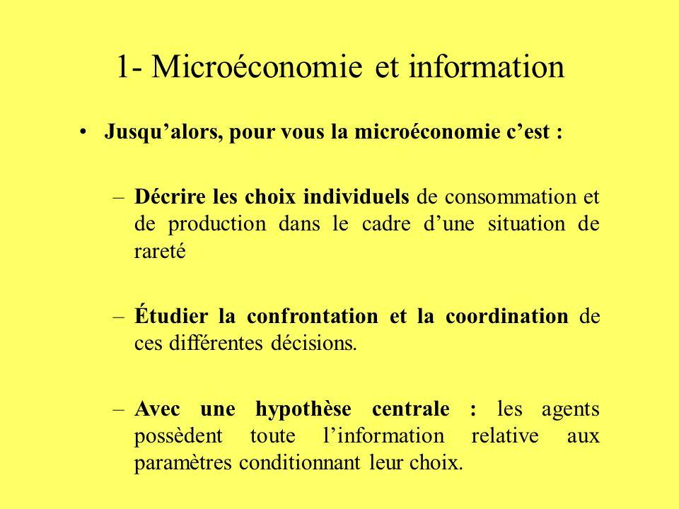 1- Microéconomie et information