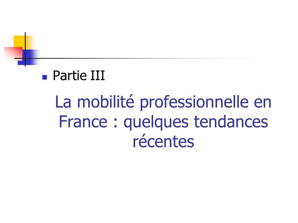 La mobilité professionnelle en France : quelques tendances récentes