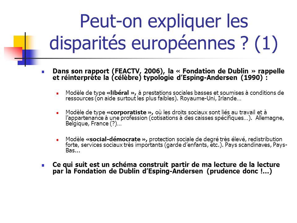 Peut-on expliquer les disparités européennes (1)