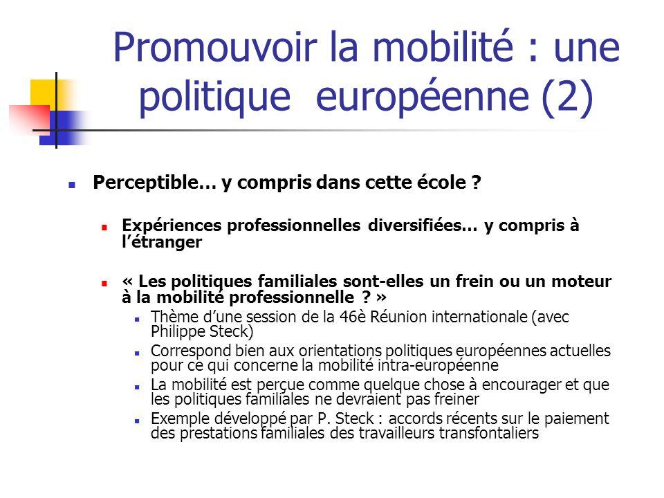 Promouvoir la mobilité : une politique européenne (2)