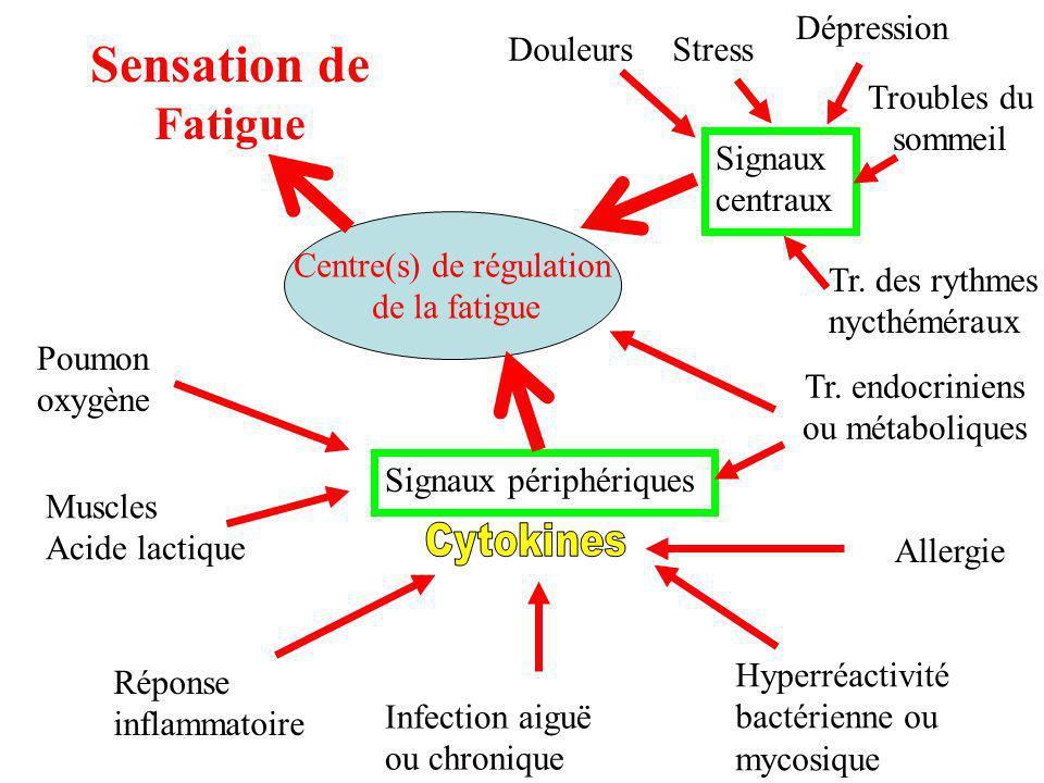 Sensation de Fatigue Dépression Douleurs Stress Troubles du sommeil