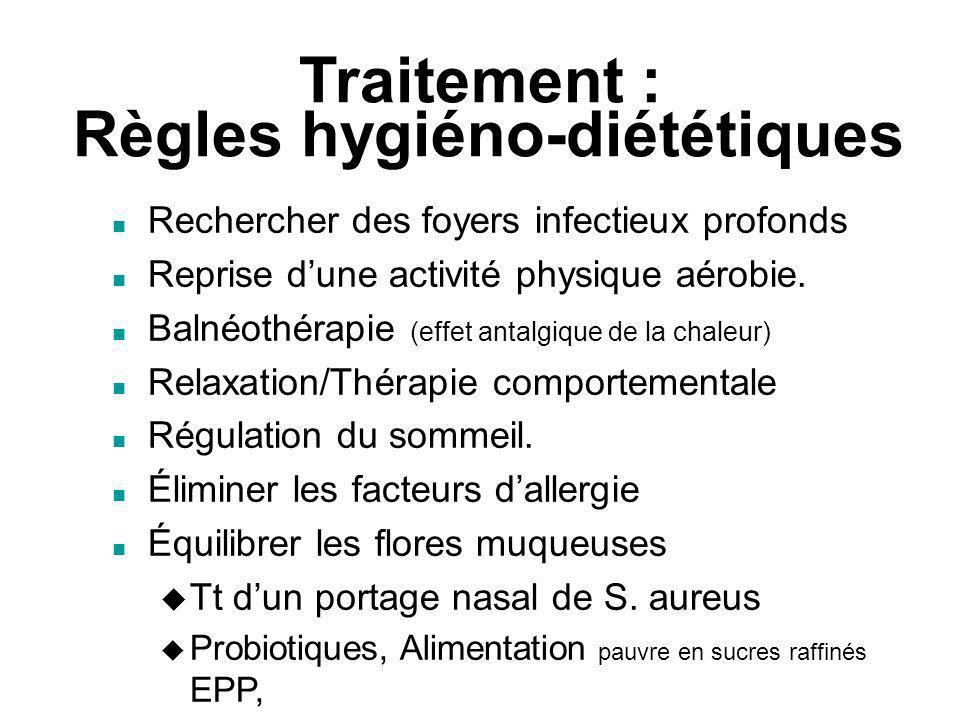 Traitement : Règles hygiéno-diététiques