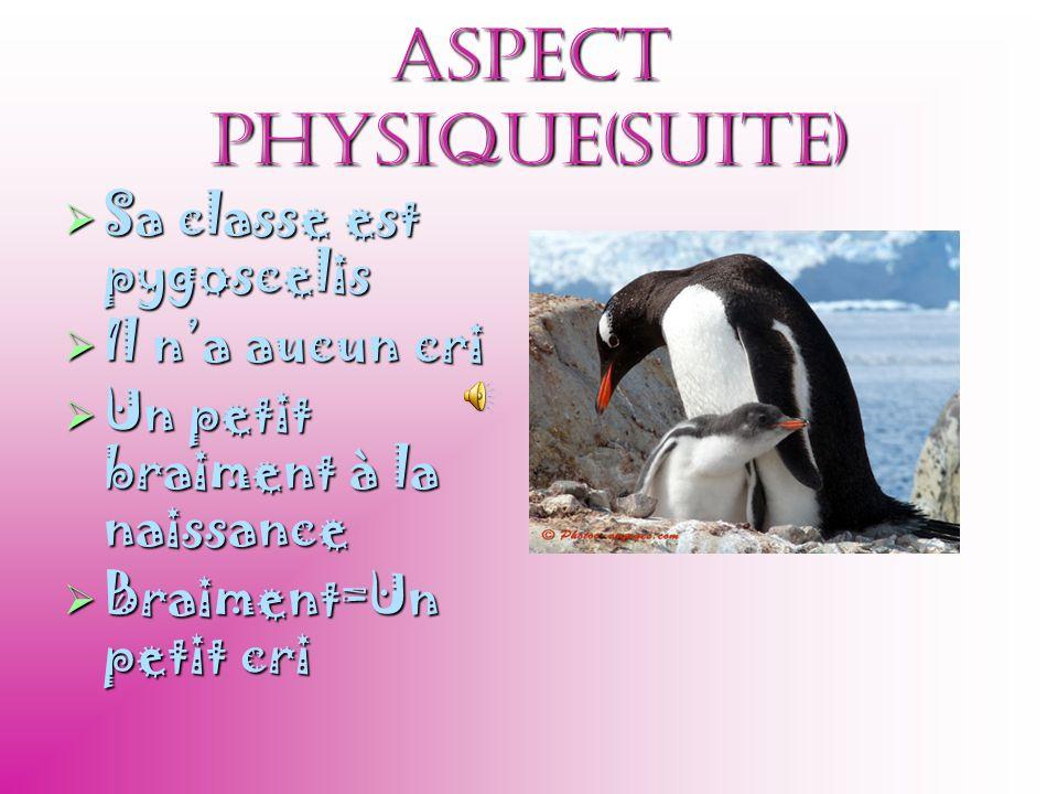 Aspect physique(suite)