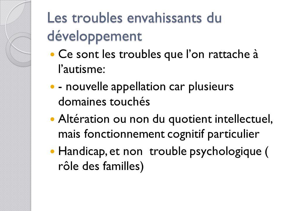 Les troubles envahissants du développement
