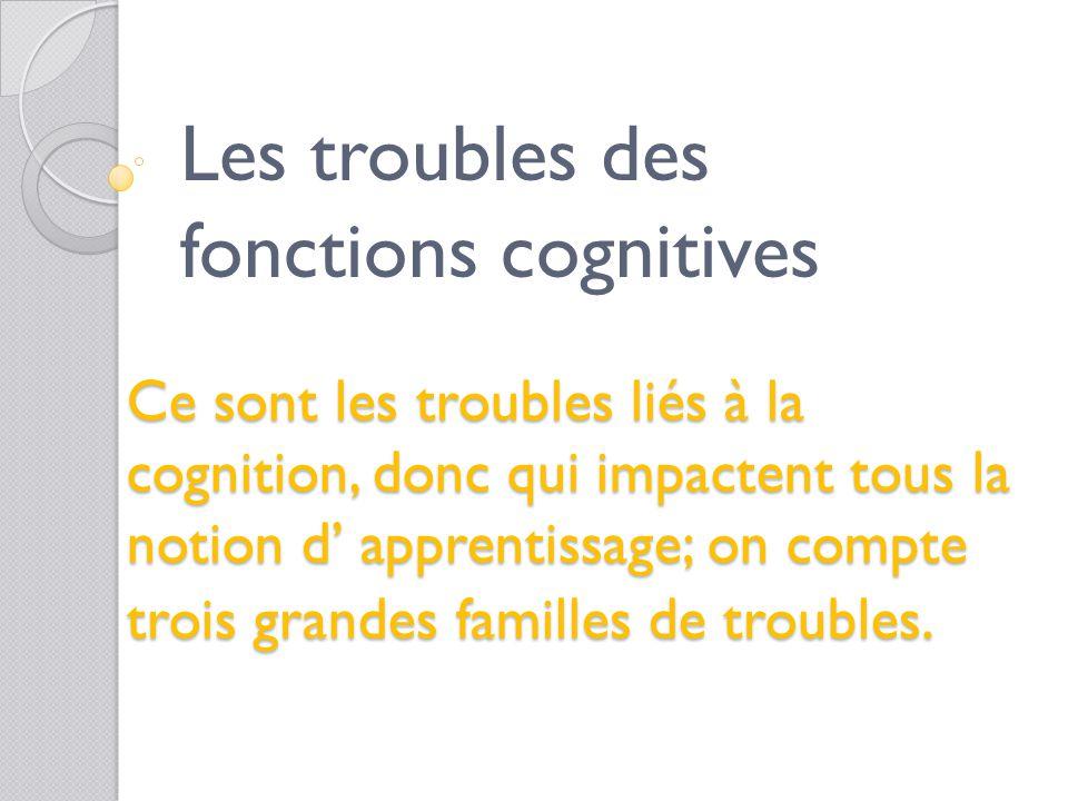 Les troubles des fonctions cognitives