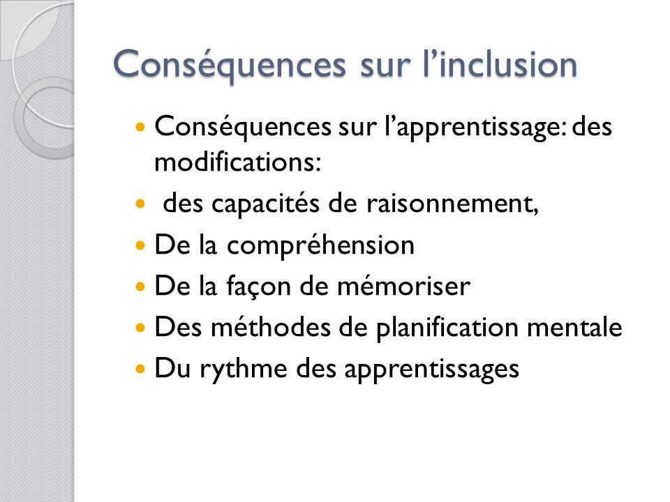 Conséquences sur l'inclusion