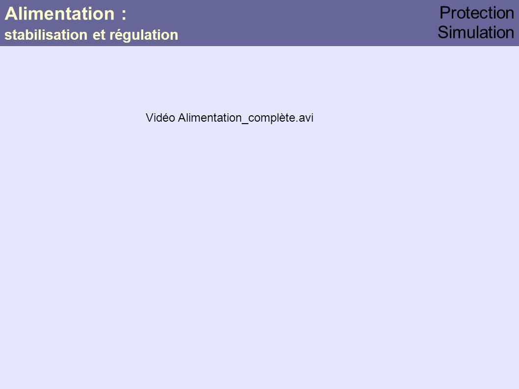 Alimentation : Protection Simulation stabilisation et régulation